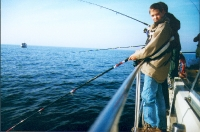 Angler in der Wismarbucht